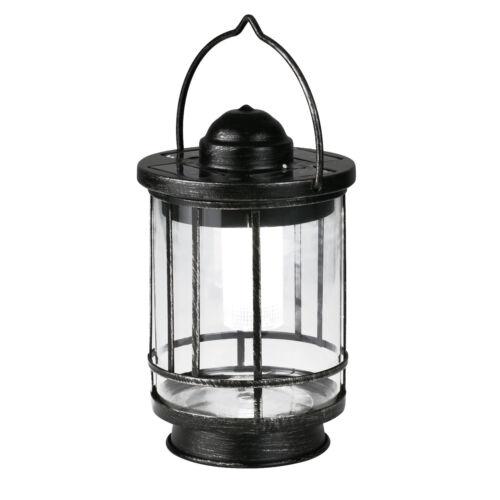 aus Edelstahl und Glas Rund Laterne 5 Lumen Duracell ® LED Solar Tischleuchte