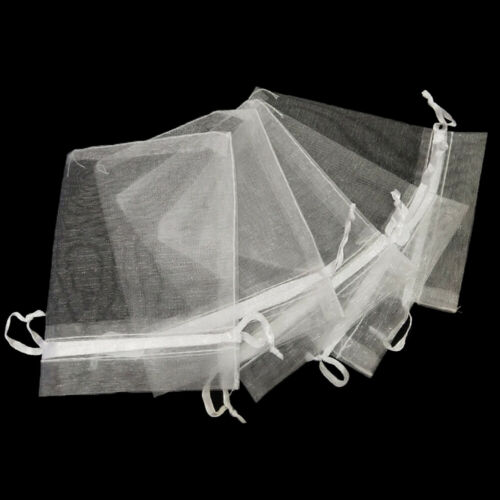 Party Supply Drawstring Pocket Organza Gauze Sachet Gift Bags White Pouches