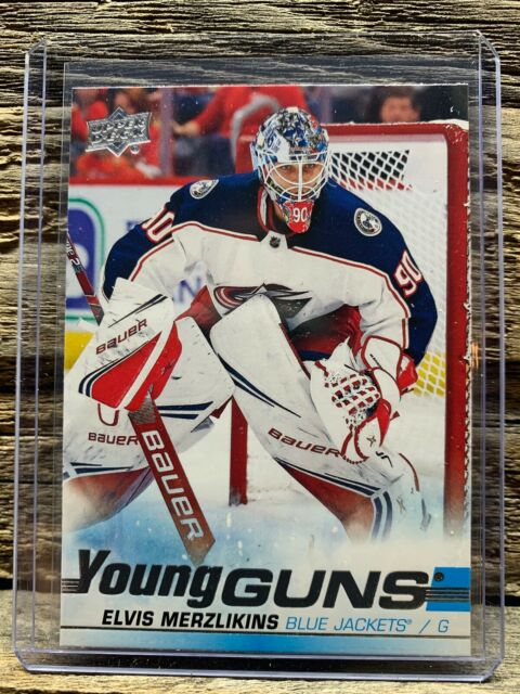 2019-20 Series 2 UD Young Guns RC #466🔥Elvis Merzlikins🔥Columbus Jackets