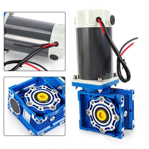 DC 12V//24V 90W//300W Large Torque Worm two-speed Gear Motor Reducer Motor For DIY