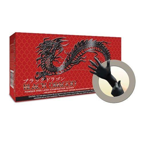 20 Boxes//Case Black Dragon PF Latex Exam Glove 100//Box Microflex