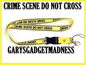 CRIME-SCENE-NECK-STRAP-LANYARD-FOR-PHONES-I-D-TAGS-MP3