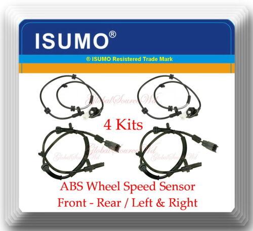 4 Kits ABS Wheel Speed Sensor Front Rear  Left /& Right Fits MAZDA 2 2011-2014