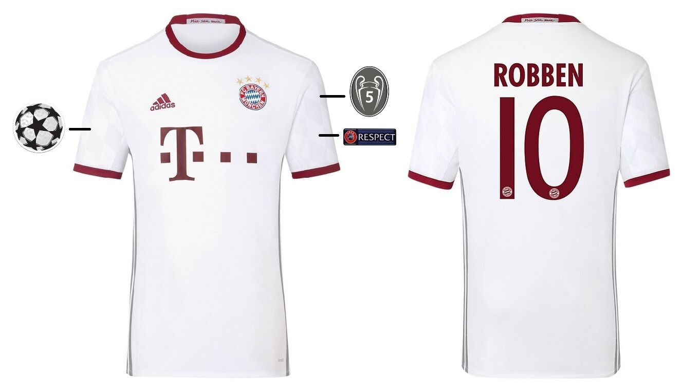 Trikot Adidas FC Bayern 2016-2017 Champions League - Robben 10  FCB    Qualität zuerst