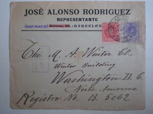 SOBRE-DE-CARTA-ANO-1910-DOBLE-EDIFIL-243-Y-270-A-WASHINGTON