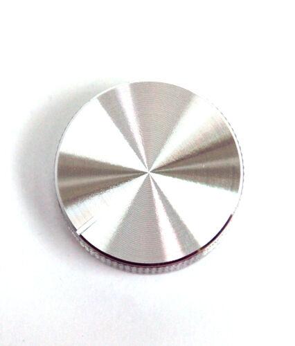 5pc Aluminum Insert Type Knob KNB004D size=φ30x16mm 30x16mm Hole=18T Silver RoHS