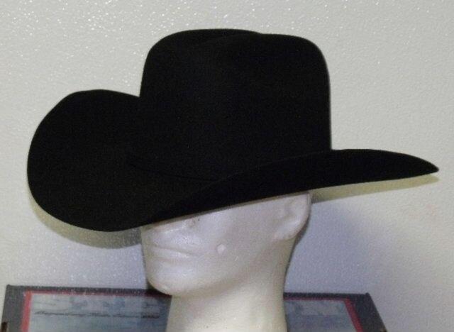 Buy 6 3 4 Stetson Apache Black 4x Buffalo Fur Western Cowboy Hat W ... 8477d47e70f