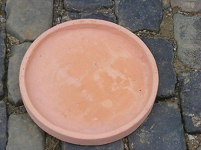 Clayfibre Untersetzer  36 x 3,5 cm Schale rund Farbe terracotta hell TOP NEU