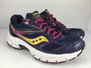 7541bad6a93 Saucony Grid Cohesion 8 Women US 5.5 Purple Pink + White Athletic ...
