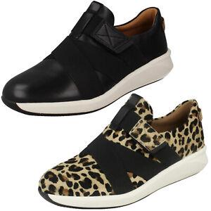 Detalles de Damas Clarks un Rio Correa de cuero no estructurados Deportes Informal Zapatos Talla ver título original
