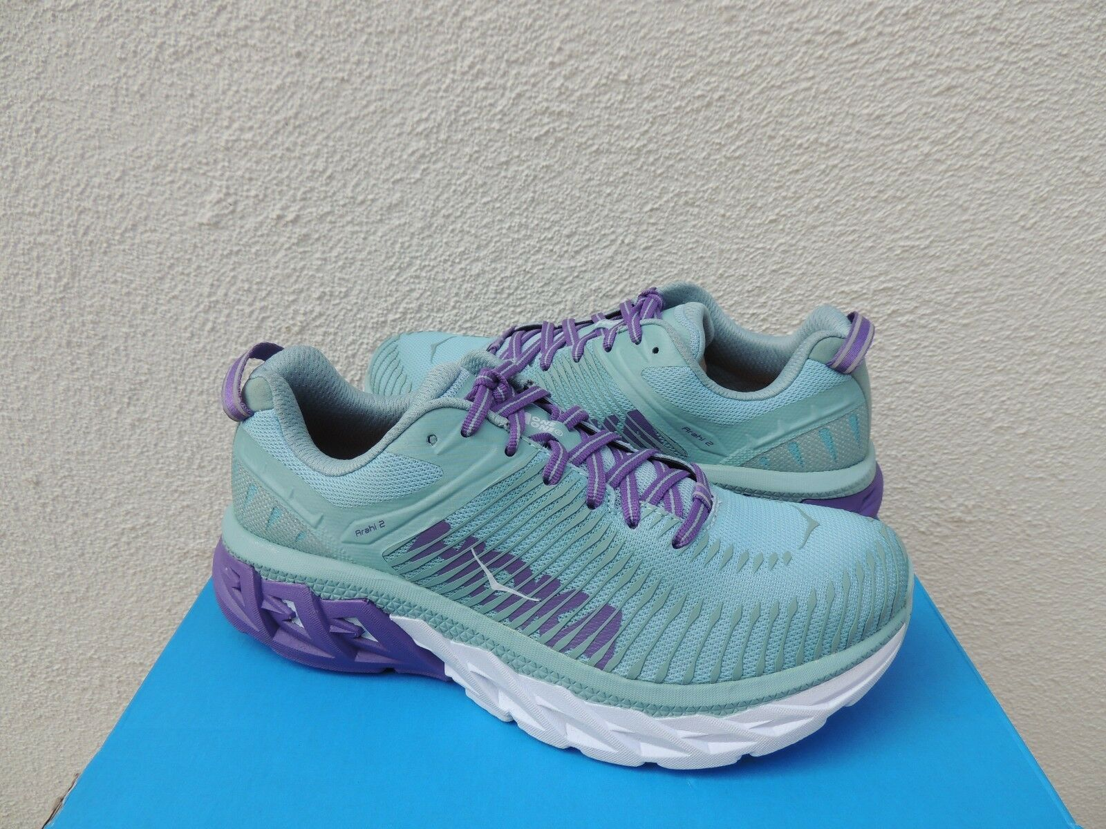 HOKA ONE ONE ARAHI 2 AQUIFER SEA ANGEL RUNNING SHOES, Donna US 7/ EUR 38 2/3 NEW