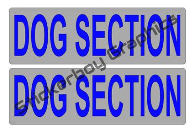 DOG SECTION Magnet K9 Handler Car Magnets Magnetic k9 Unit 460mm x 2
