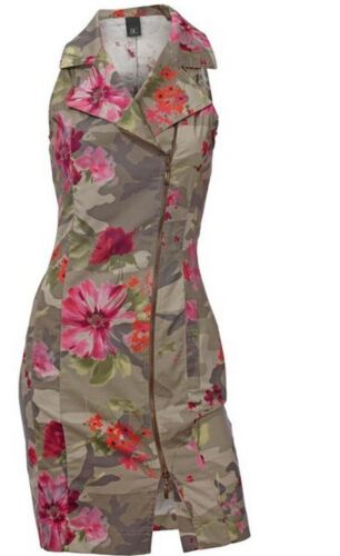 Robe avec Impression Best Connections Camouflage Fuchsia//Olive Taille 34 36 38