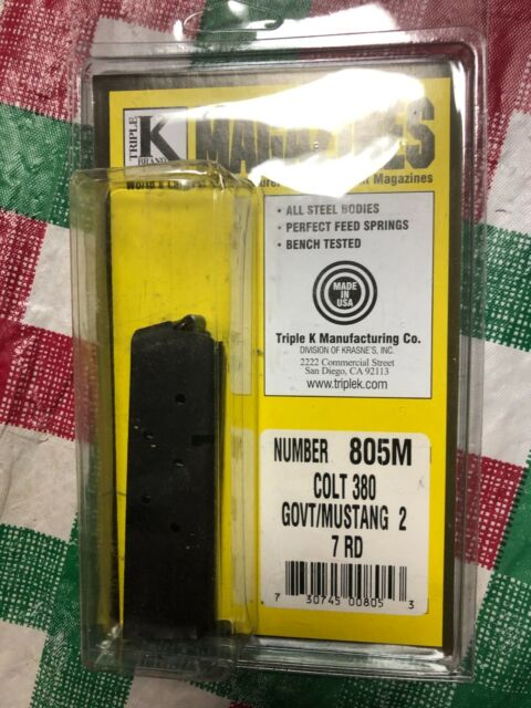 Colt  Government/Mustang 2 .380 Magazine  by Triple K - Model 805M