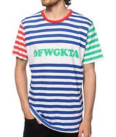 Odd Future Ofwgkta Striped T-shirt 100% Authentic