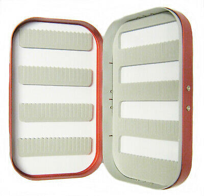 Aluminium Rot Satin C+f Style Schlitz Schaumstoff Fliegen Box Nymphen Nass