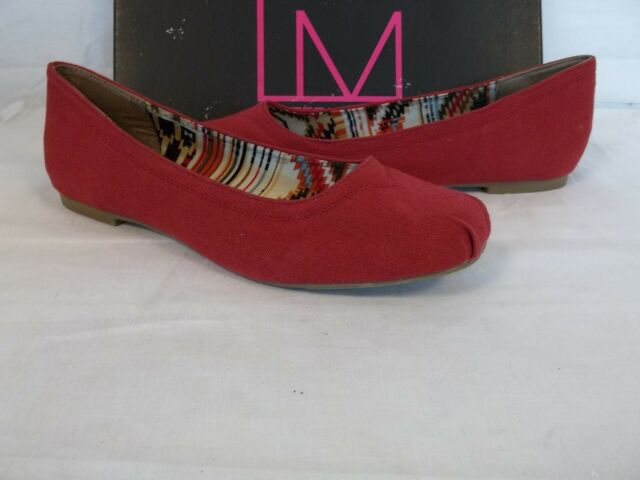 3aa1f428fed7 Material Girl Macys Size 6 M Nona Red Flats Womens Shoes for sale ...