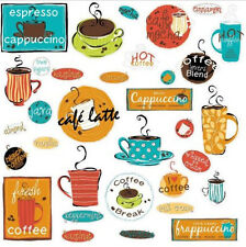 CAFE wall stickers 32 decal COFFEE cup sign office  kitchen decor espresso java