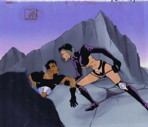 AEON-FLUX-Original-Hand-Painted-Production-Cel-Animation-Art-COA-MTV-Cell-1990s