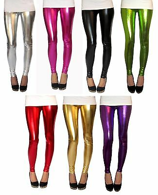 PETITE LENGTH Leggings Ultrashine with Spandex SIZES 8 - 18...  Foil..