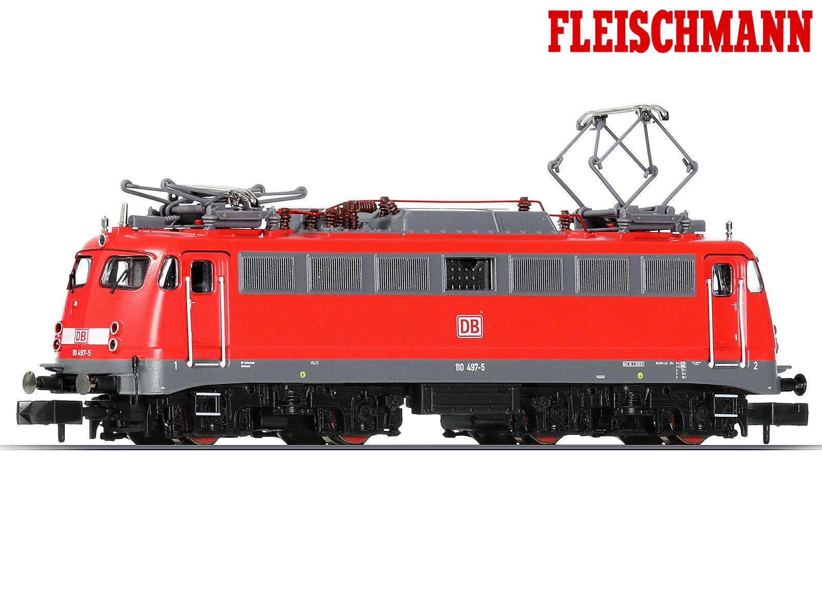 Fleischmann 733808 N E-Lok BR 110 497-5 DB AG verkehrsrot + + NUOVO & OVP + +