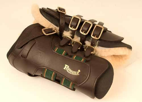 New Rhinegold leather tendon boots with detachable sheepskin    neoprene liner  best offer