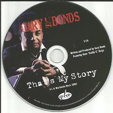 GARY US BONDS That's My Story PROMO Radio DJ CD Single 2013 USA MINT U.S.
