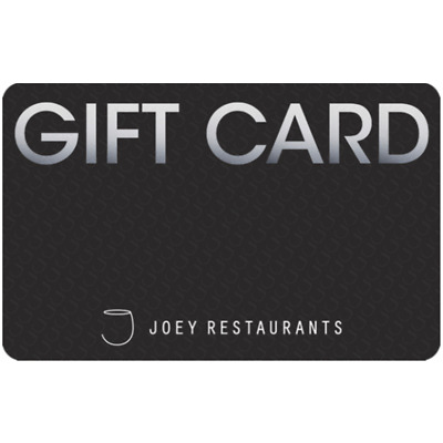 Joey Restaurants Gift Card $25, $50, or $100 - Fast email delivery