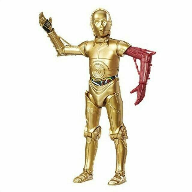 STAR WARS  BLACK SERIES 6 inch C-3PO  RED ARM  #29 RESISTENCE BASE  NEW