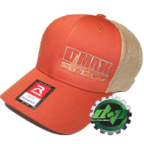 Duramax diesel Richardson 110 DMAX truck hat Flexfit burnt ORANGE mesh back L//XL