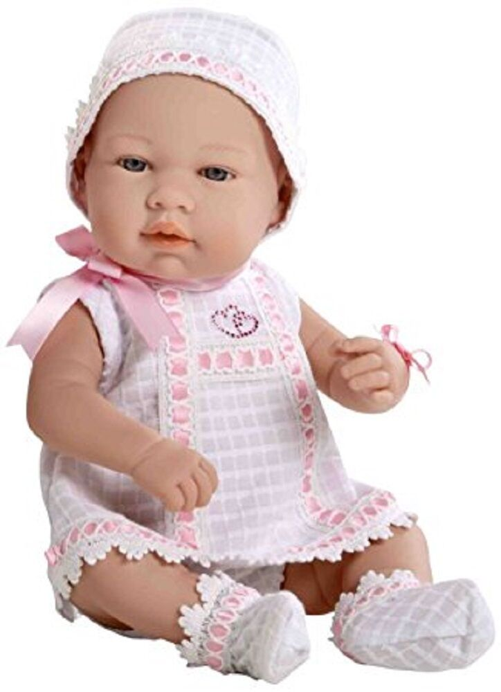 Arias 42 cm Elegance Real Baby Swarovski Elements Doll (Pink White) A95009