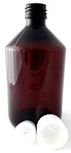 500ml-PET-Flasche-leer-Deckel-mit-Originalitaetsverschluss-und-Spritzeinsatz