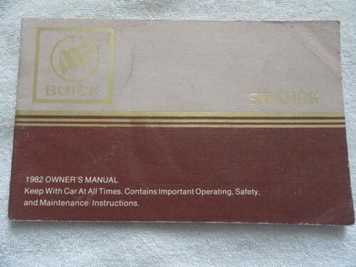 1982 Buick Skylark Owners Manual 82