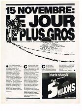 PUBLICITE  1976   LOTERIE NATIONALE  15 NOVEMBRE le jour le plus gros
