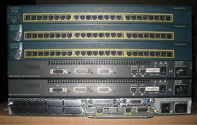 CISCO CCNA LAB 2x 2650 32//128 Routers 2x 2950 SWITCHES