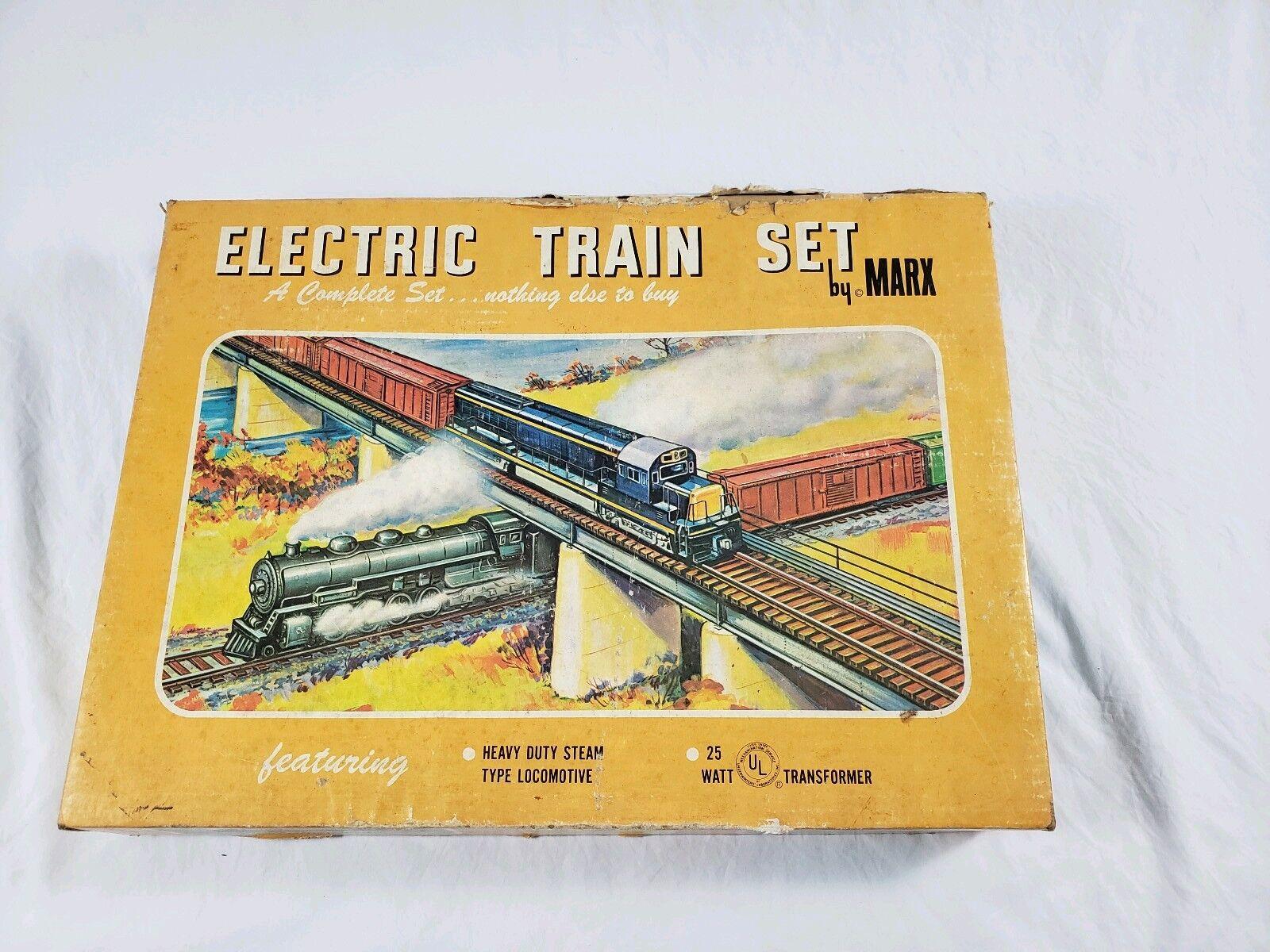 Vintage Marx Conjunto de Tren Eléctrico en Caja Buen Estado