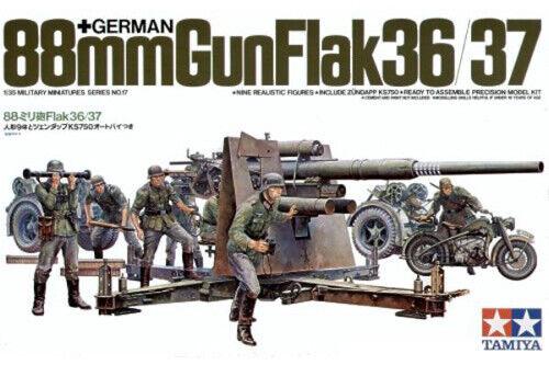 German 88mm Gun Flack 36/37 1:35 Plastic Model Kit 35017 TAMIYA