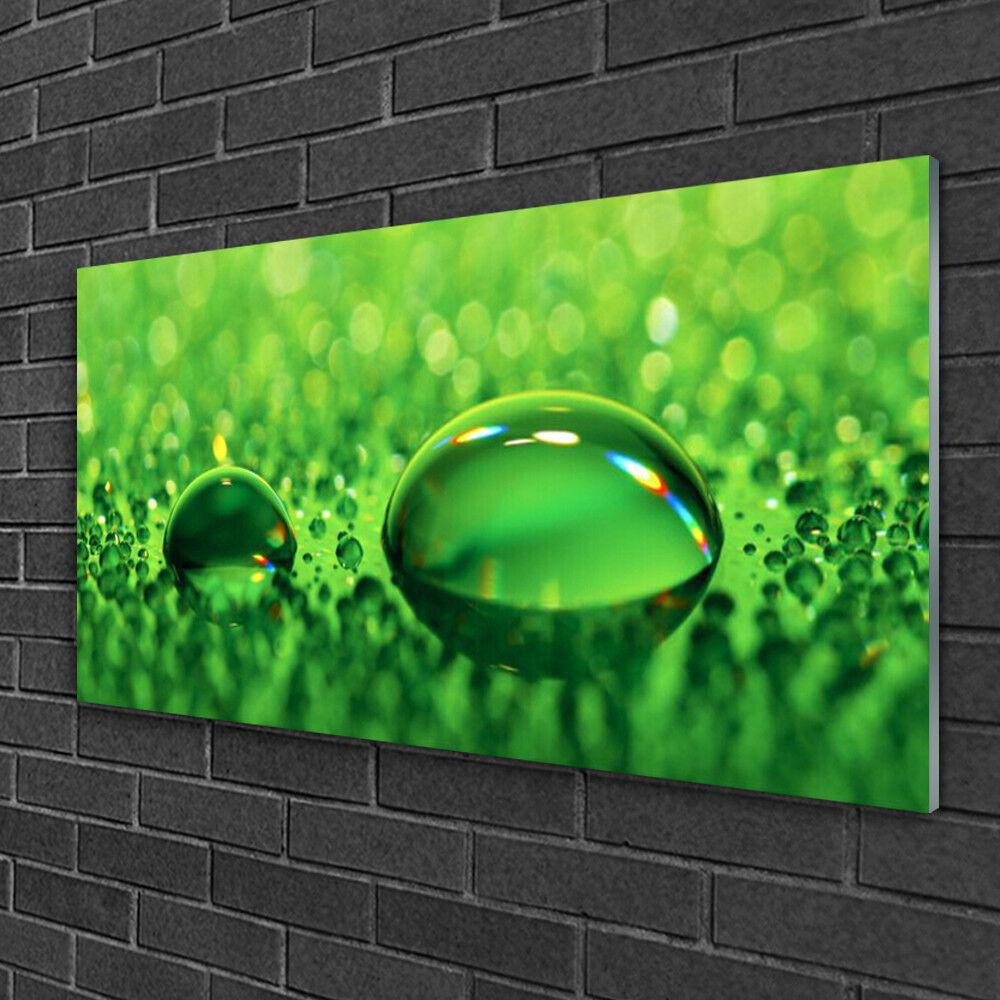 Image sur verre Tableau Impression 100x50 Art Gouttes D'eau