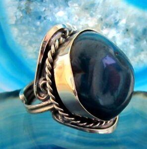 Anello-alpaca-argento-pietre-agata-blu-Ethno-INDIANO-INCA-MAYA-STILE-02