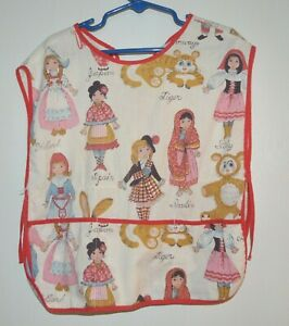 Child-039-s-Small-med-Smock-apron-039-girls-of-the-world-039