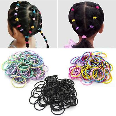 100pcs Fashion Elastic Rope Ring Hairband Girls Women Hair Band Ponytail Holder