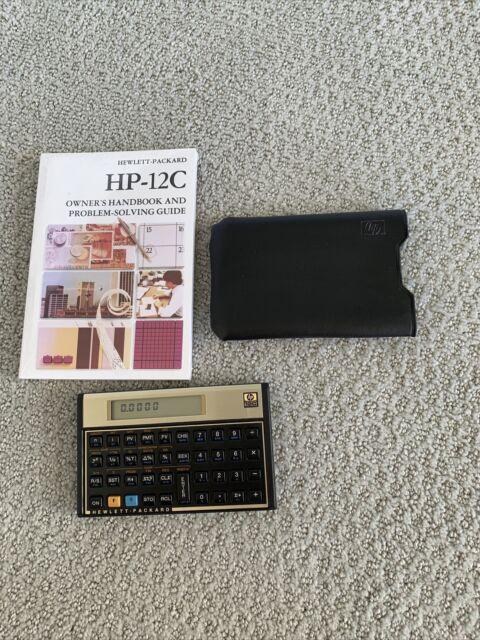 Hewlett-Packard HP12C (HP-12C) Financial Calculator w/ Case & Handbook