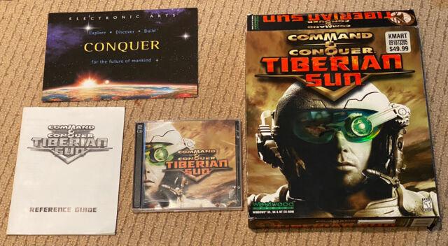 Command & Conquer: Tiberian Sun (PC, 1999) Big Box with Inserts
