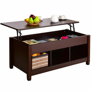 Ordinaire Details About Lift Top Coffee Table W/ Hidden Compartment Storage Shelf  Living Room Furniture