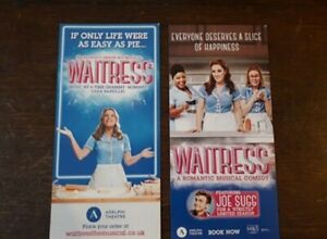 2-DIFFERENTS-FLYERS-FLYER-MUSICAL-WEST-END-LONDON-waitress