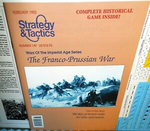 Strategy-amp-Tactics-Mag-w-Game-149-The-Franco-Prussian-War-op-1992-UNPunched