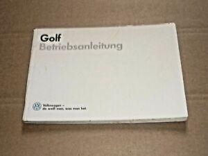 VW Golf II 1987 Betriebsanleitung Bedienungsanleitung Handbuch