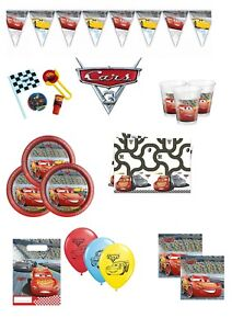 Image Is Loading DISNEY CARS 3 BIRTHDAY PARTY SUPPLIES TABLEWARE DECORATIONS