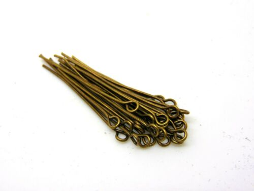 15g x Mixed Size Antqiue Bronze Coloured Eye Pins Jewellery  R146
