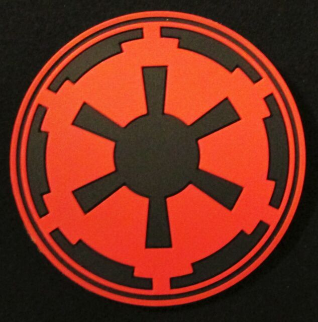 3d Imperial Galactic Empire Star Wars Logo Army Red Ops Velcro